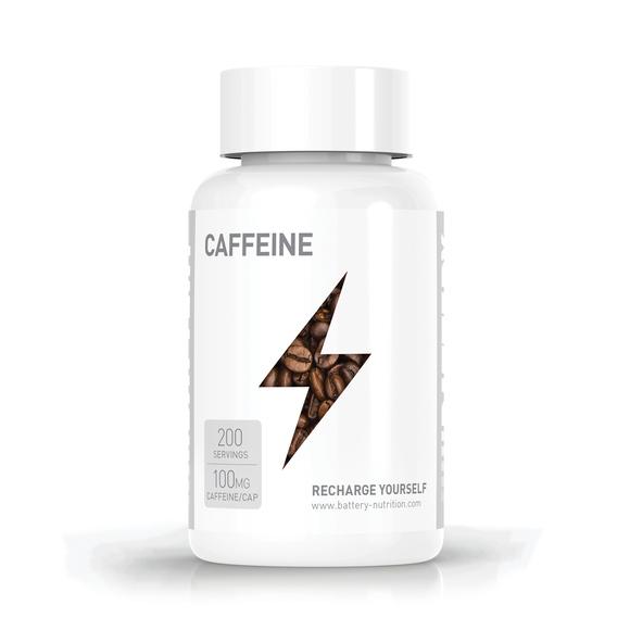 BATTERY CAFFEINE, 200 kapsula