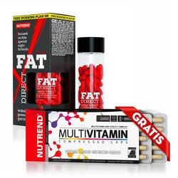 NUTREND FAT DIRECT, 60 kapsula + NUTREND MULTIVITAMIN COMPRESSED CAPS, 60 kapsula