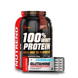 NUTREND 100% WHEY PROTEIN 2250g + GLUTAMINE GRATIS